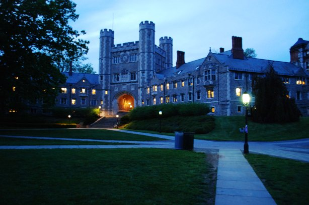 Blair Hall at dusk