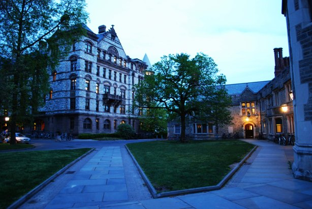 Witherspoon Hall at dusk