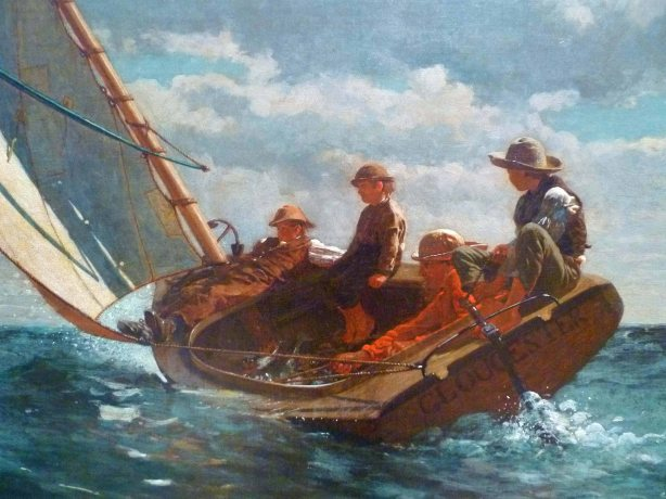 Breezing Up (A Fair Wind) (detail) – Winslow Homer