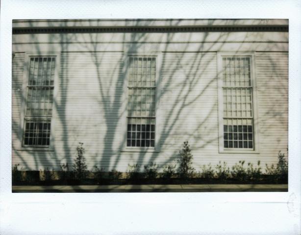 Winter shadows on the First Presbyterian Church of Cranbury